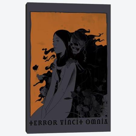 Terror Vincit Omnia 3-Piece Canvas #MLO109} by Mathiole Canvas Art Print
