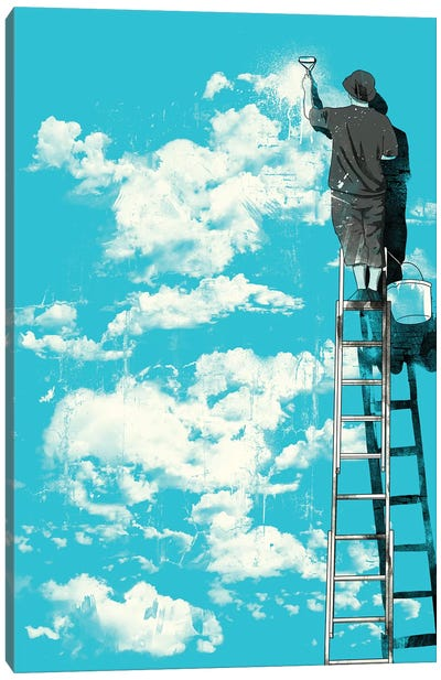 The Optimist Canvas Art Print