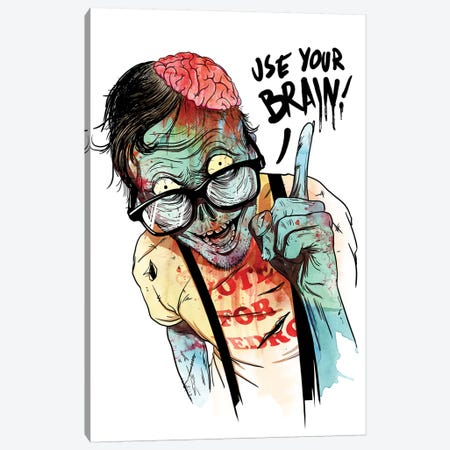 Use Your Brain Canvas Print #MLO119} by Mathiole Canvas Artwork