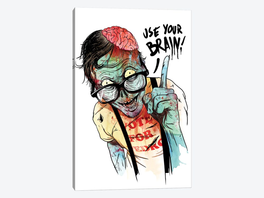 Use Your Brain by Mathiole 1-piece Canvas Wall Art