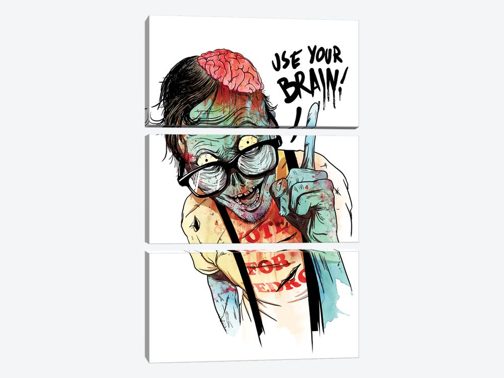Use Your Brain by Mathiole 3-piece Canvas Artwork