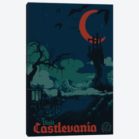 Visit Castlevania Canvas Print #MLO122} by Mathiole Canvas Print
