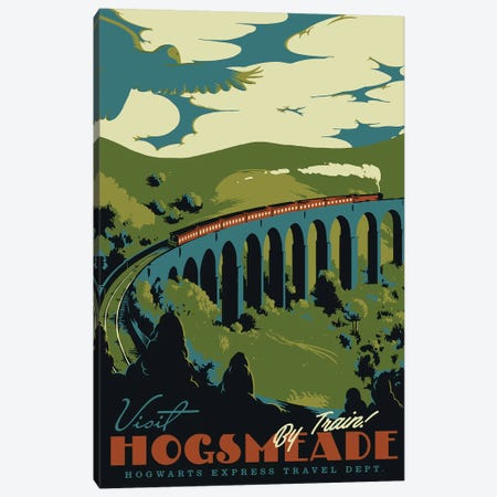 Visit Hogsmeade Canvas Print #MLO123} by Mathiole Art Print