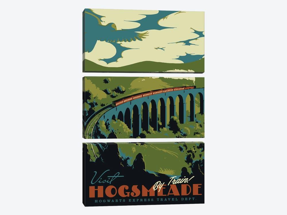 Visit Hogsmeade by Mathiole 3-piece Canvas Art Print