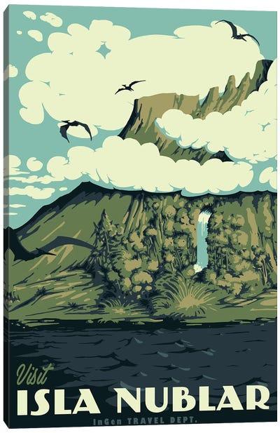 Visit Isla Nublar Canvas Art Print