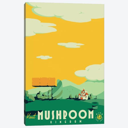 Visit Mushroom Kingdom Canvas Print #MLO125} by Mathiole Canvas Art