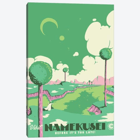 Visit Namekusei Canvas Print #MLO126} by Mathiole Canvas Wall Art