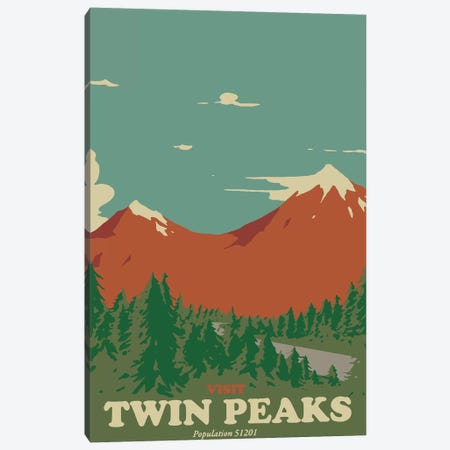 Visit Twin Peaks Canvas Print #MLO127} by Mathiole Canvas Artwork