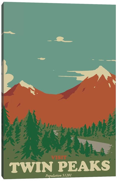 Visit Twin Peaks Canvas Art Print