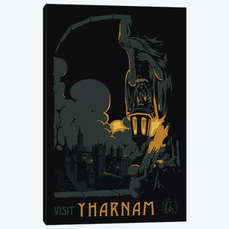 Visit Yharnam Canvas Print #MLO129} by Mathiole Canvas Print