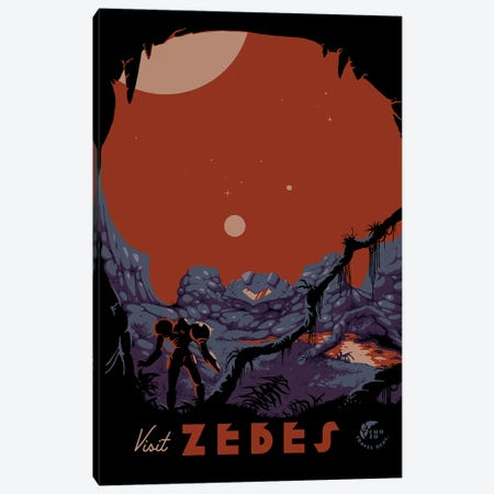 Visit Zebes Canvas Print #MLO130} by Mathiole Canvas Art