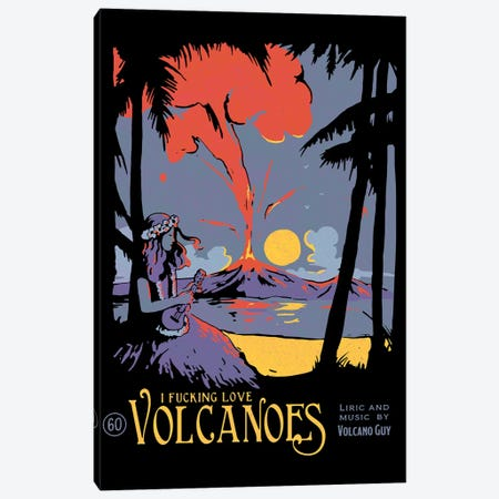 Volcano Canvas Print #MLO131} by Mathiole Canvas Art