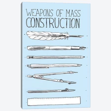 Weapons Of Mass Construction Canvas Print #MLO134} by Mathiole Canvas Print