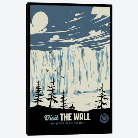 Visit The Wall II Canvas Print #MLO141} by Mathiole Art Print