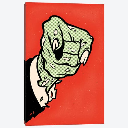 Zombiecracy 3-Piece Canvas #MLO142} by Mathiole Art Print