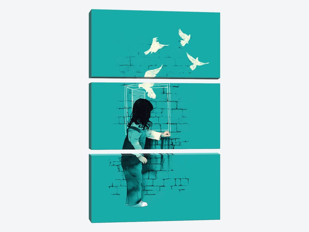 A Way Out by Mathiole 3-piece Canvas Art