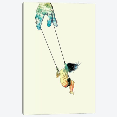 Swing Me Higher Canvas Print #MLO22} by Mathiole Art Print