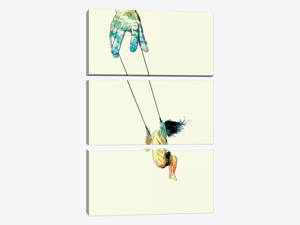 Swing Me Higher by Mathiole 3-piece Canvas Artwork