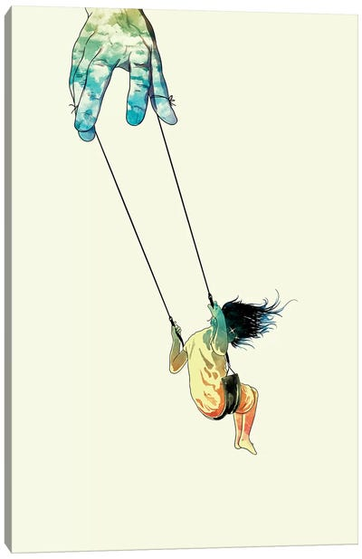 Swing Me Higher Canvas Art Print