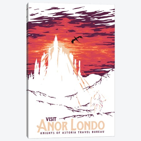 Visit Anor Londo Canvas Print #MLO27} by Mathiole Canvas Wall Art