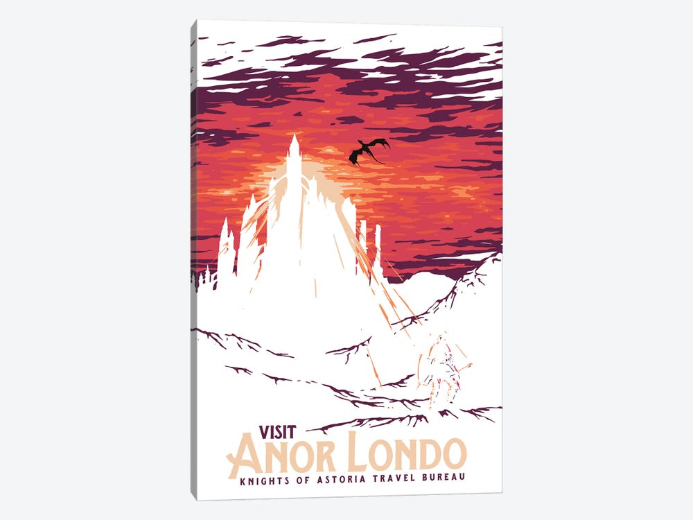 Visit Anor Londo by Mathiole 1-piece Canvas Art Print