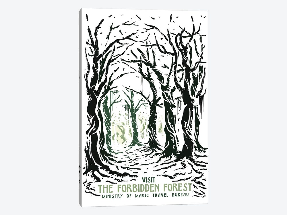 Visit The Forbidden Forest by Mathiole 1-piece Art Print
