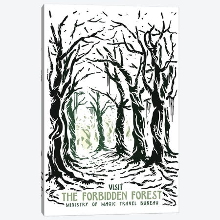 Visit The Forbidden Forest Canvas Print #MLO32} by Mathiole Canvas Wall Art