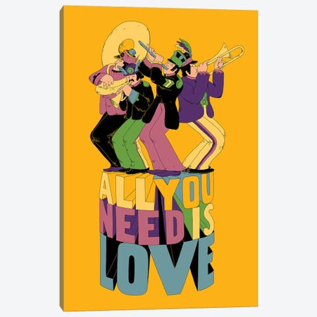 All You Need 3-Piece Canvas #MLO36} by Mathiole Canvas Art Print