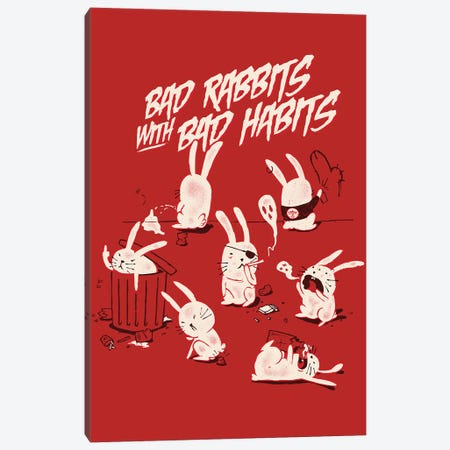Bad Rabbits Canvas Print #MLO40} by Mathiole Canvas Print
