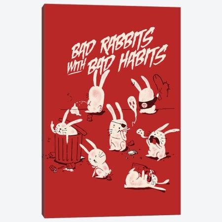 Bad Rabbits Canvas Print #MLO40} by Mathiole Canvas Print