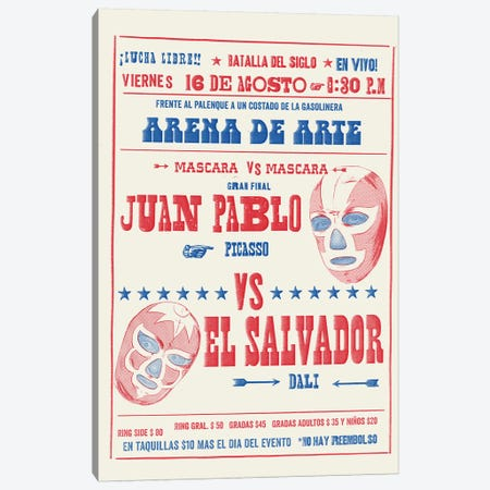 Batalla Del Siglo Canvas Print #MLO41} by Mathiole Canvas Art Print