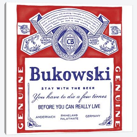 Bukowski Canvas Print #MLO44} by Mathiole Canvas Art