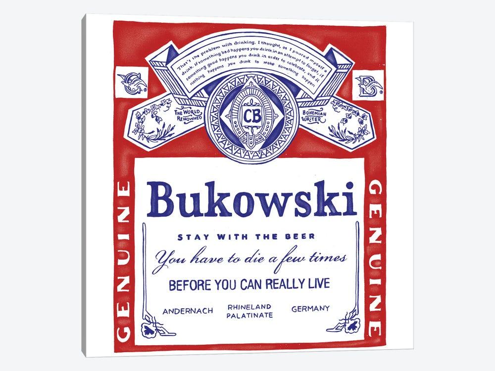Bukowski by Mathiole 1-piece Canvas Art
