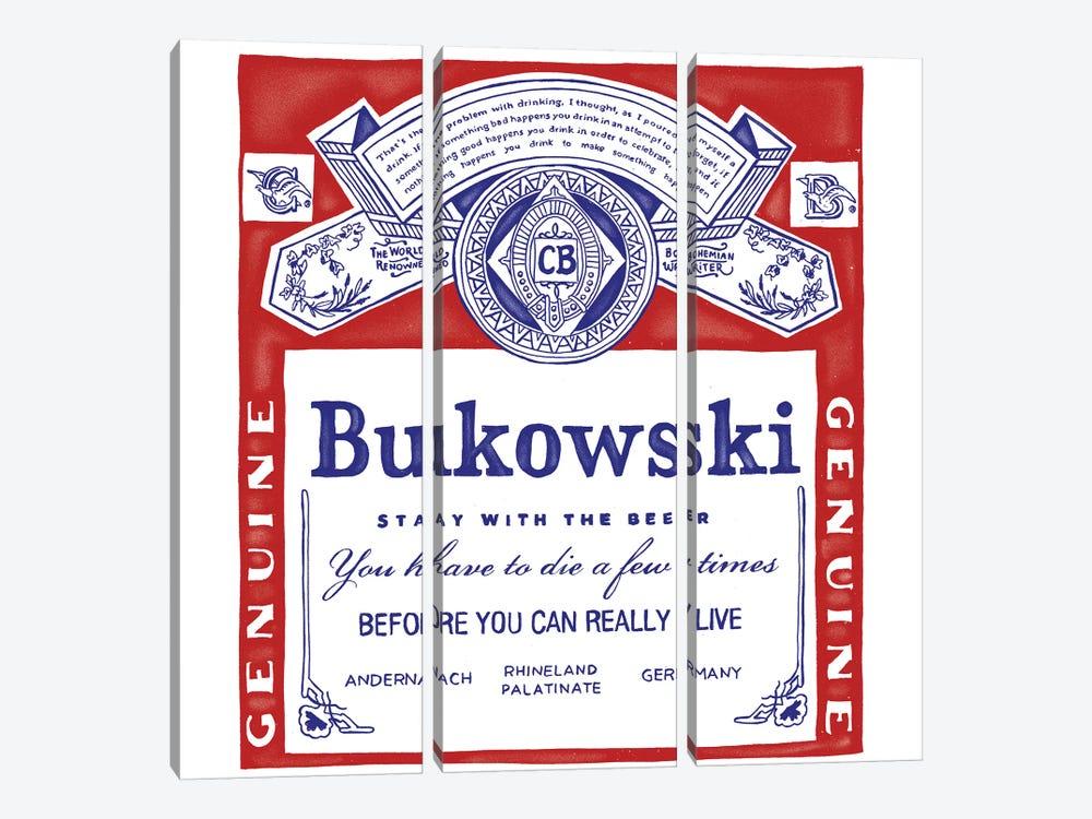 Bukowski by Mathiole 3-piece Canvas Art