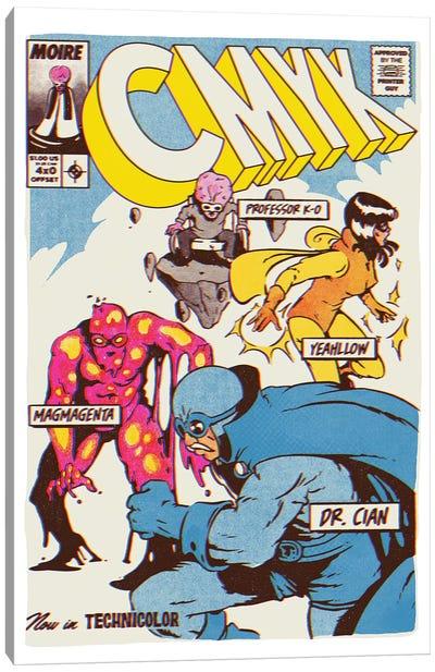 CMYK Heroes Canvas Art Print