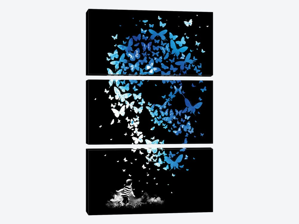 Chaos Theory by Mathiole 3-piece Canvas Wall Art