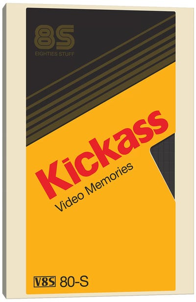 Kickass Tape Canvas Art Print