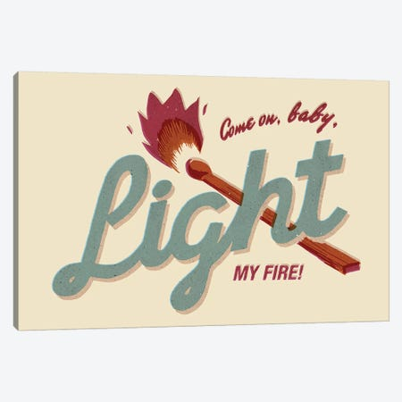 Light My Fire Canvas Print #MLO76} by Mathiole Canvas Print