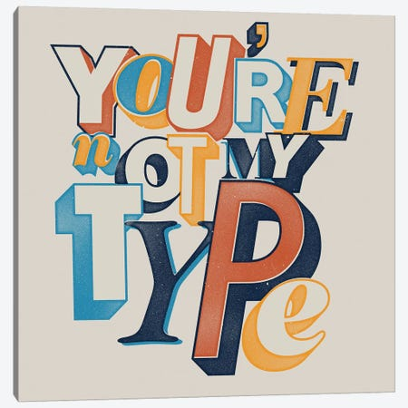 My Type Canvas Print #MLO85} by Mathiole Canvas Art
