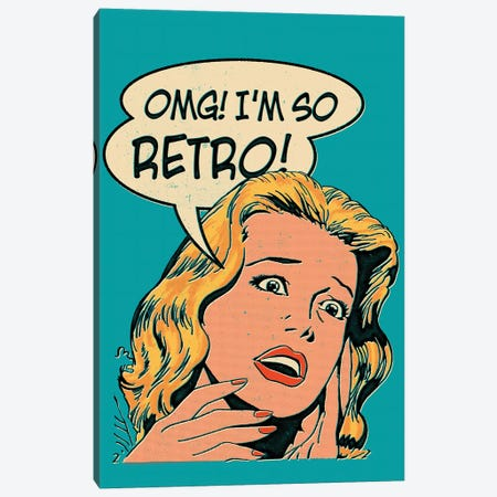 OMG! I'm So Retro Canvas Print #MLO92} by Mathiole Canvas Art