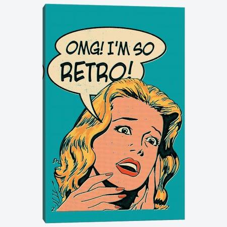 OMG! I'm So Retro Canvas Print #MLO92} by Mathiole Canvas Art