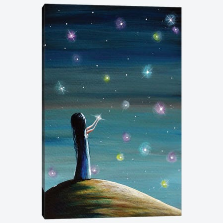 Keeping Her Dreams Alive Canvas Print #MLP102} by Moonlight Art Parlour Canvas Artwork