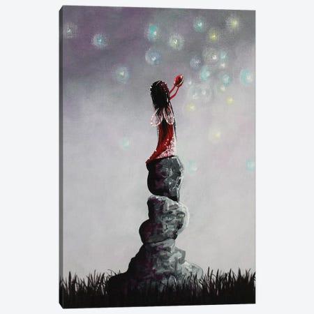 Little Garnet Fairy Canvas Print #MLP106} by Moonlight Art Parlour Art Print