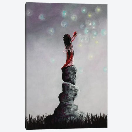 Little Garnet Fairy Canvas Print #MLP106} by Moonlight Art Parlour Art Print