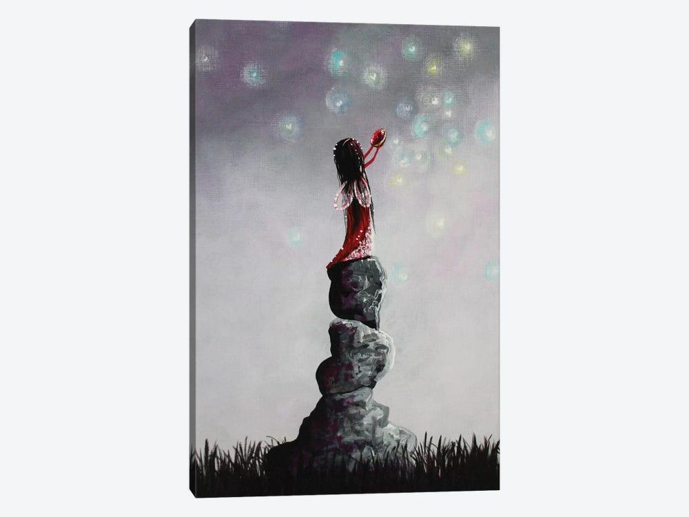 Little Garnet Fairy by Moonlight Art Parlour 1-piece Canvas Print