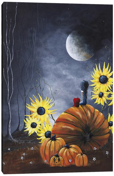 Midnight In The Pumpkin Patch Canvas Art Print