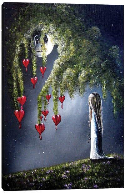 Night Of The Bleeding Hearts Canvas Art Print