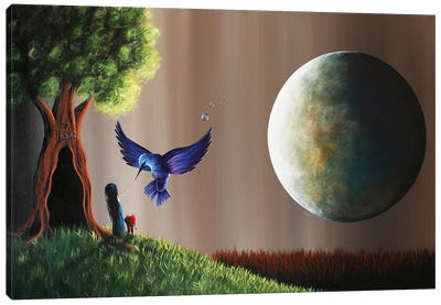Once Upon A Midnight Sky  Canvas Art Print