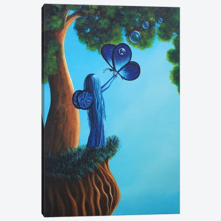 Sapphire Fairy Canvas Print #MLP148} by Moonlight Art Parlour Canvas Artwork