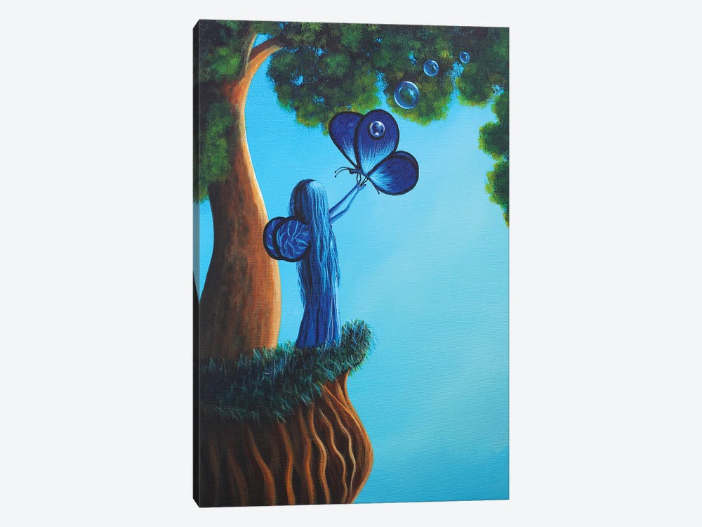 Sapphire Fairy by Moonlight Art Parlour 1-piece Canvas Art Print